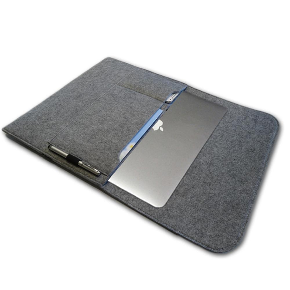 f r apple macbook air 13 3 zoll filz sleeve h lle ultrabook laptop tasche grau ebay. Black Bedroom Furniture Sets. Home Design Ideas
