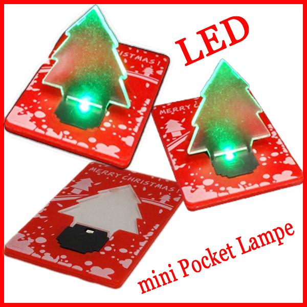 Weihnachtskarte led weihnachtsbaum mini lampe led pocket licht karte nachtlicht led technik - Weihnachtsbaum mini led ...