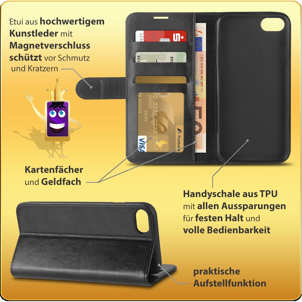 handy tasche f r apple iphone 8 flip case schutzh lle. Black Bedroom Furniture Sets. Home Design Ideas
